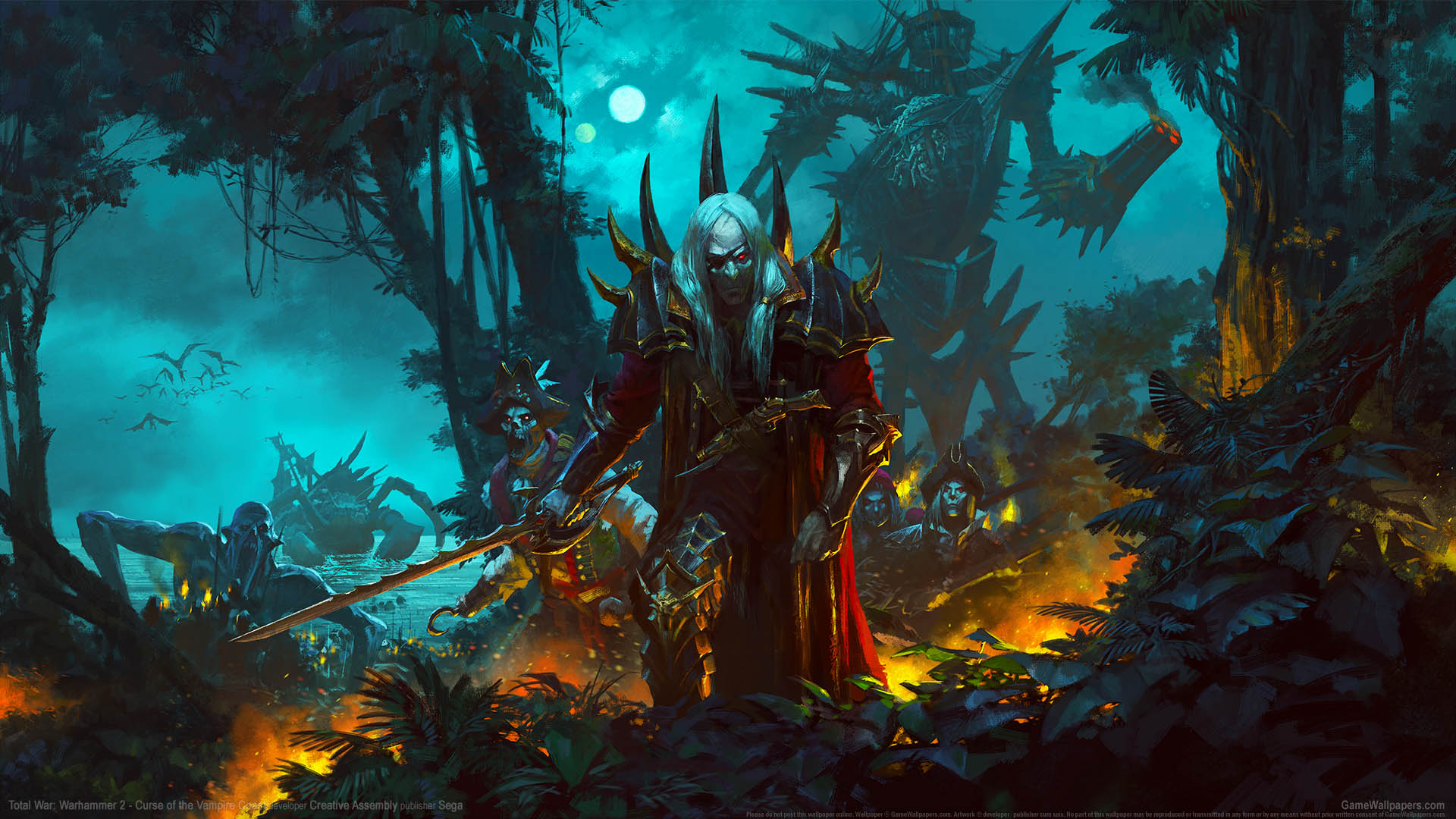 Total War Warhammer 2 Curse Of The Vampire Coast Fondo De