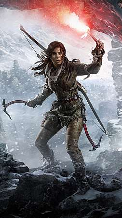 Rise of the Tomb Raider Móvil Vertical fondo de escritorio