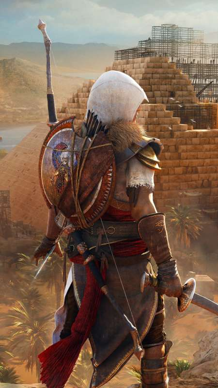 Assassin's Creed: Origins Móvil Vertical fondo de escritorio