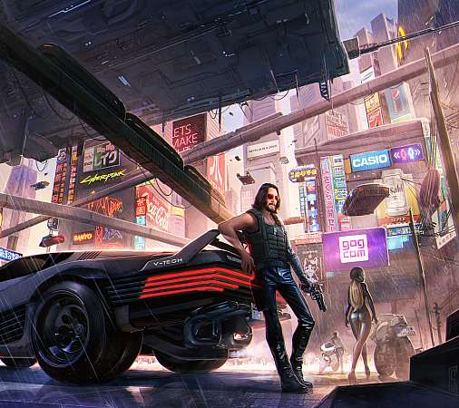 Cyberpunk 2077 fan art Móvil Horizontal fondo de escritorio