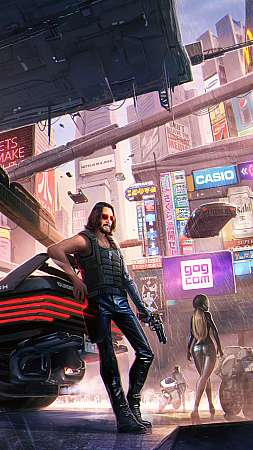 Cyberpunk 2077 fan art Móvil Vertical fondo de escritorio