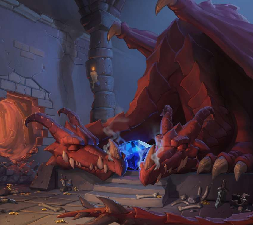 Hearthstone: Heroes of Warcraft - Kobolds & Catacombs Móvil Horizontal fondo de escritorio