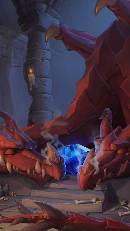 Hearthstone: Heroes of Warcraft - Kobolds & Catacombs Móvil Vertical fondo de escritorio