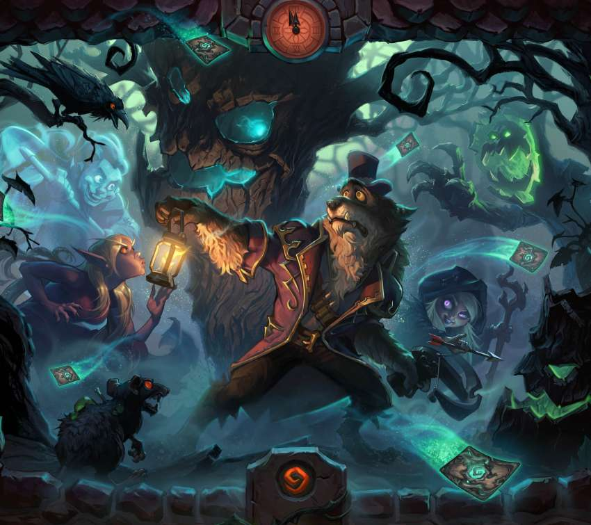Hearthstone: Heroes of Warcraft - The Witchwood Móvil Horizontal fondo de escritorio