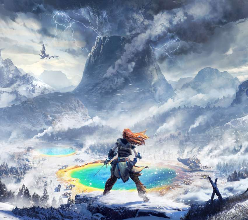 Horizon: Zero Dawn - The Frozen Wilds Móvil Horizontal fondo de escritorio