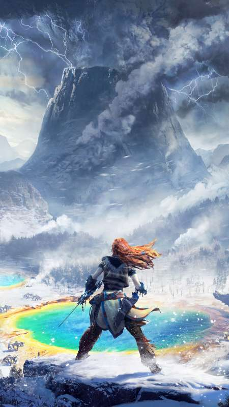 Horizon: Zero Dawn - The Frozen Wilds Móvil Vertical fondo de escritorio