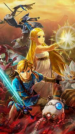 Hyrule Warriors: Age of Calamity Móvil Vertical fondo de escritorio