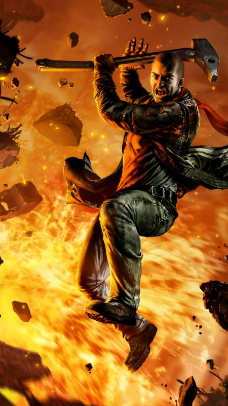 Red Faction: Guerrilla Re-Mars-tered Móvil Vertical fondo de escritorio