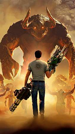 Serious Sam 4 Móvil Vertical fondo de escritorio