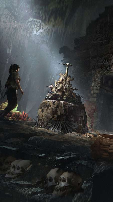 Shadow of the Tomb Raider Móvil Vertical fondo de escritorio