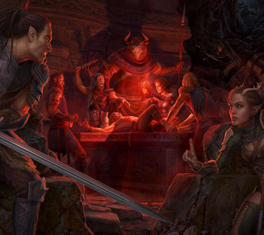 The Elder Scrolls Online: Horns of the Reach Móvil Horizontal fondo de escritorio