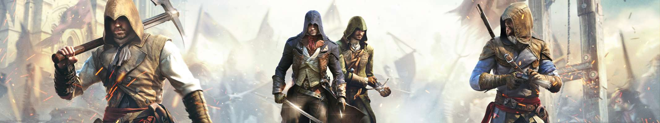 Assassin's Creed: Unity triple screen fondo de escritorio