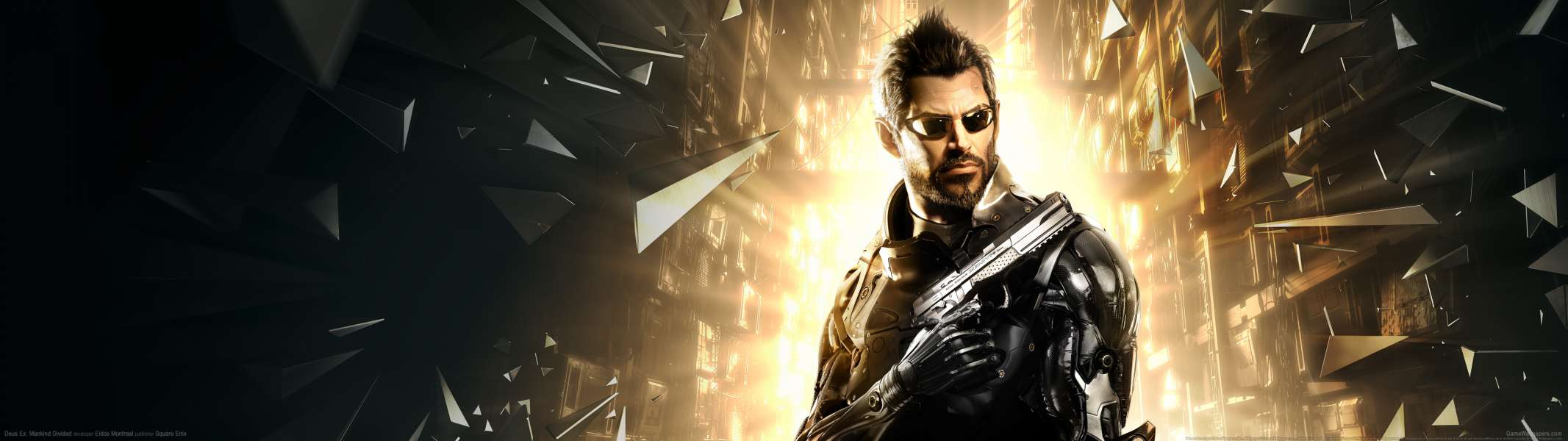 Deus Ex: Mankind Divided dual screen fondo de escritorio