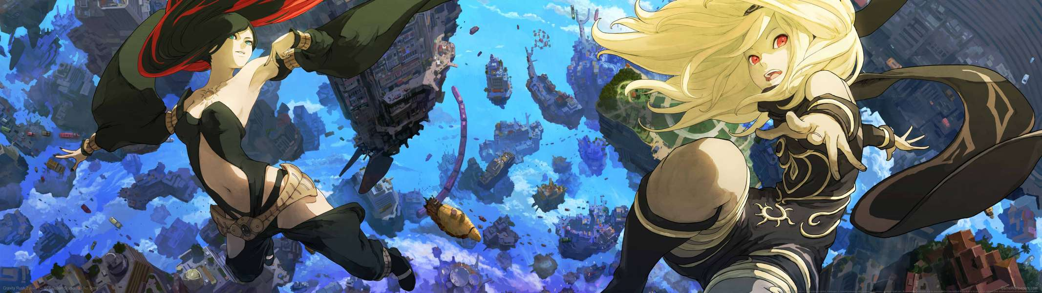 Gravity Rush 2 dual screen fondo de escritorio