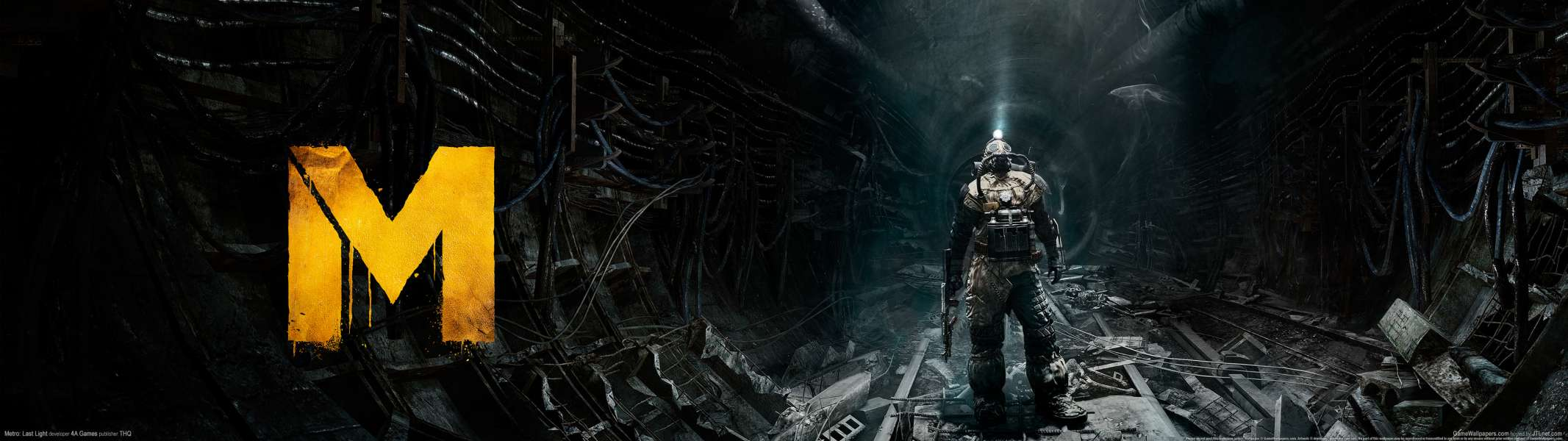 Metro: Last Light dual screen fondo de escritorio
