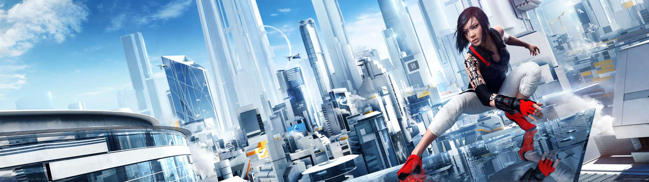 Mirror's Edge: Catalyst dual screen fondo de escritorio