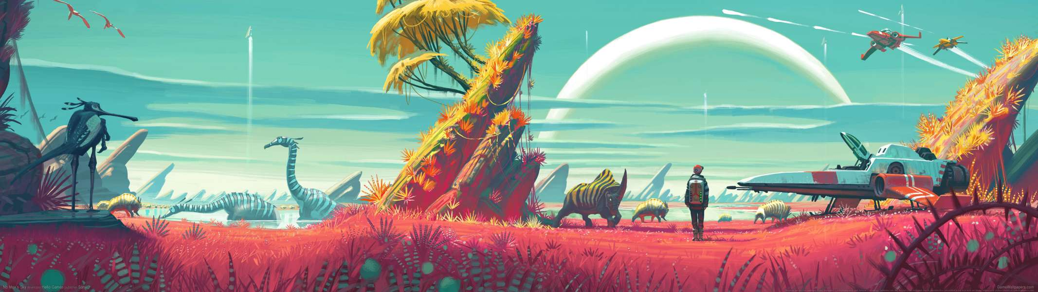 No Man's Sky dual screen fondo de escritorio