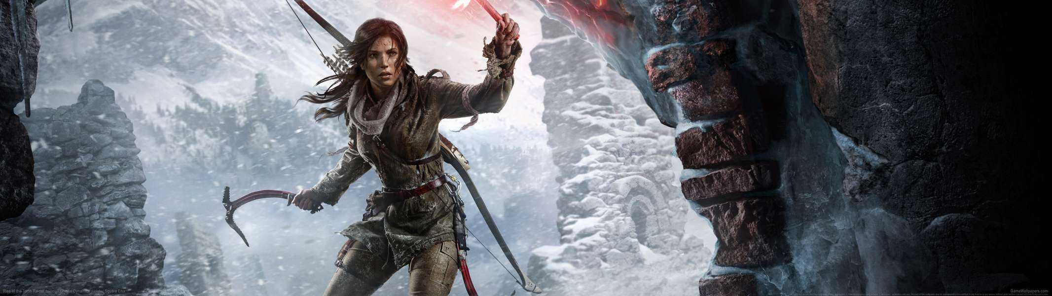 Rise of the Tomb Raider dual screen fondo de escritorio