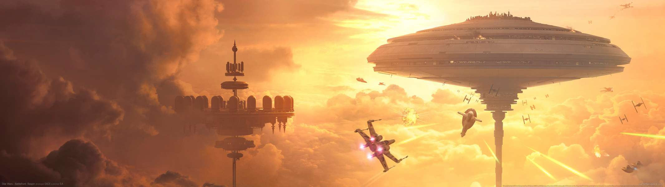 Star Wars - Battlefront: Bespin dual screen fondo de escritorio