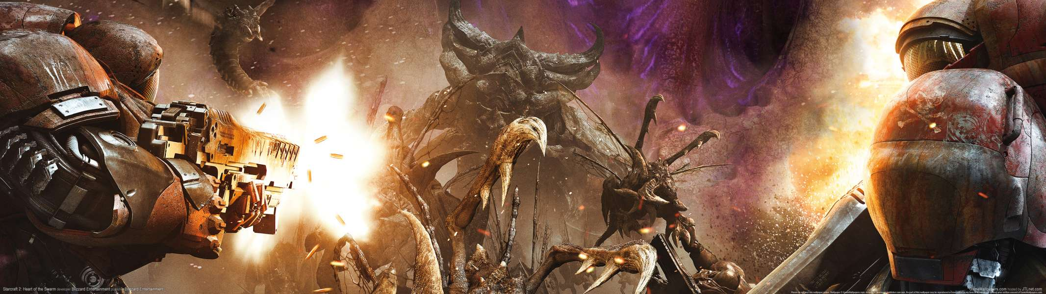 StarCraft 2: Heart of the Swarm dual screen fondo de escritorio