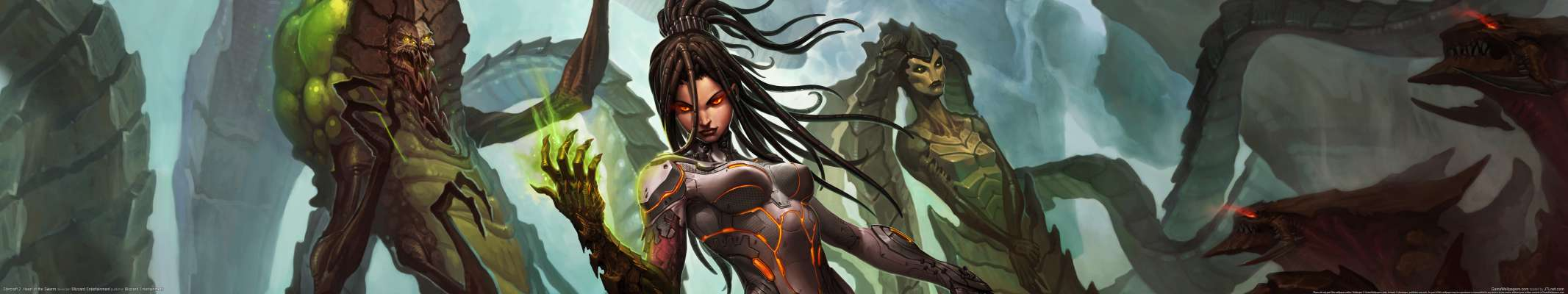 StarCraft 2: Heart of the Swarm triple screen fondo de escritorio