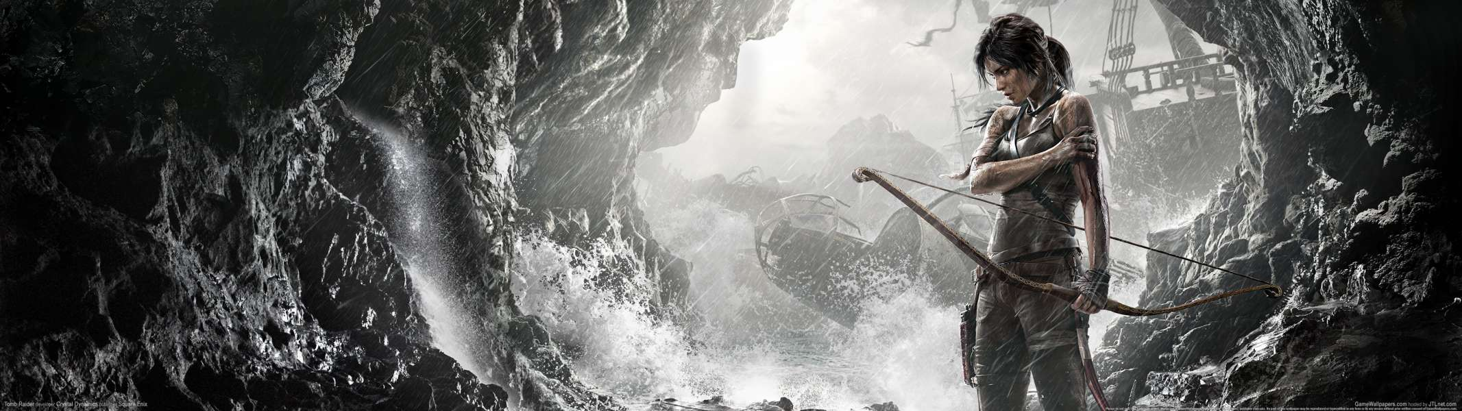 Tomb Raider dual screen fondo de escritorio